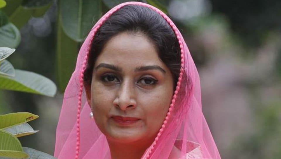 Union minister for food processing industries Harsimrat Kaur Badal.