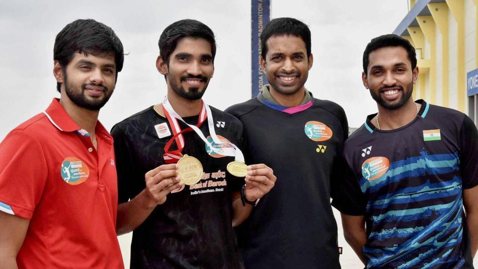 Srikanth felicitated by Sports Minister Vijay Goel