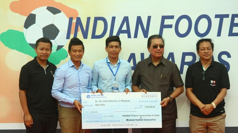 The Football Players Association of India (FPAI) and the Mizoram Football Association (MFA) contributed a combined amount of Rs. 2 lakh towards the Chief Minister's Relief Fund.