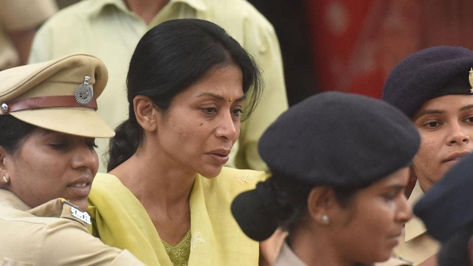 Indrani Mukerjea, accused in Sheena Bora case was brought at JJ Hospital for a medical check up and lodged in the same prison, a day after inmate Manjula Shette allegedly died due to custodial torture in Byculla prison in Mumbai, Maharashtra. (Bhushan Koyande / HT Photo)