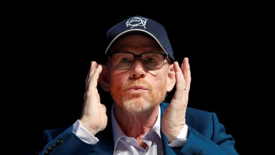 Director Ron Howard attends a conference at the Cannes Lions Festival in Cannes.