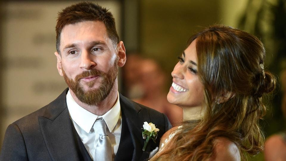 Lionel Messi and bride Antonella Roccuzzo have known each other since they were both 13 years old. (AFP)