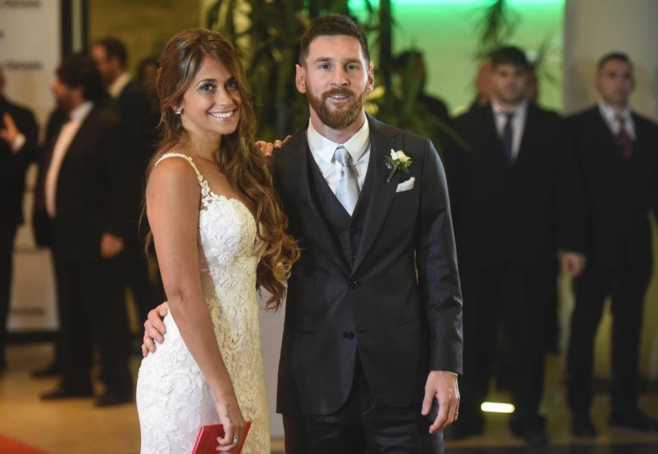 The wedding was a closed doors event in Rosario - Lionel Messi's home town. (AFP)