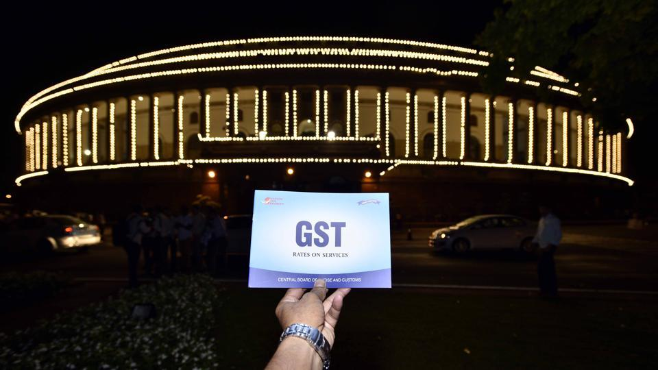 Special session for the GST launch at Parliament House in New Delhi.