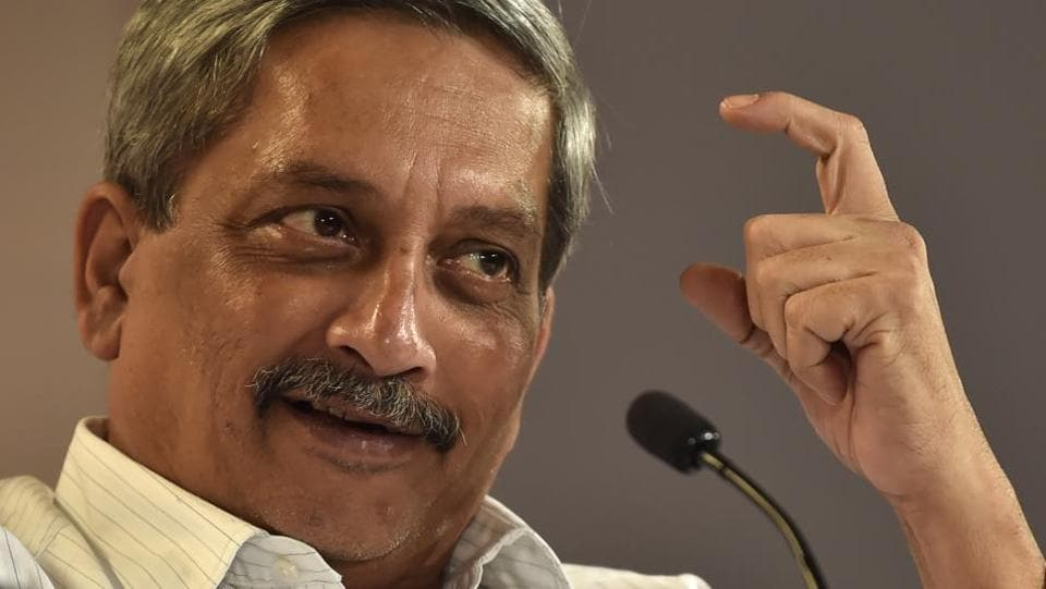 Manohar Parrikar at the Hindustan Times Leadership Summit at Taj Palace in New Delhi.