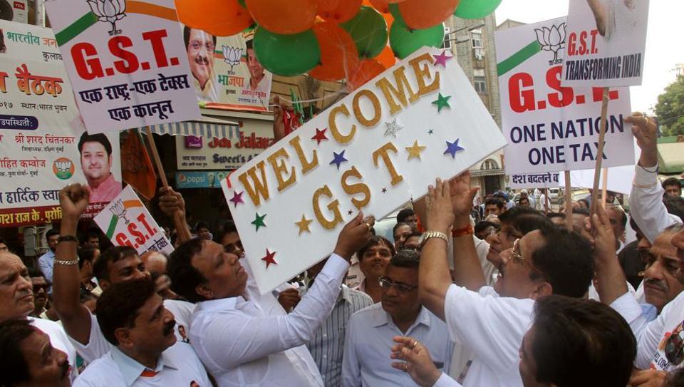 Members of the BJP celebrating at Kalwadevi , MumbaiJune 30