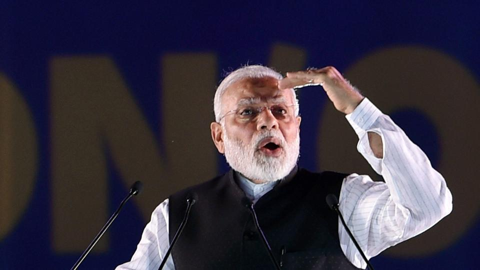 Prime Minister Narendra Modi addressing the foundation day function of Institute of Chartered Accountants of India (ICAI) at Indira Gandhi Indoor stadium in New Delhi on July 2.