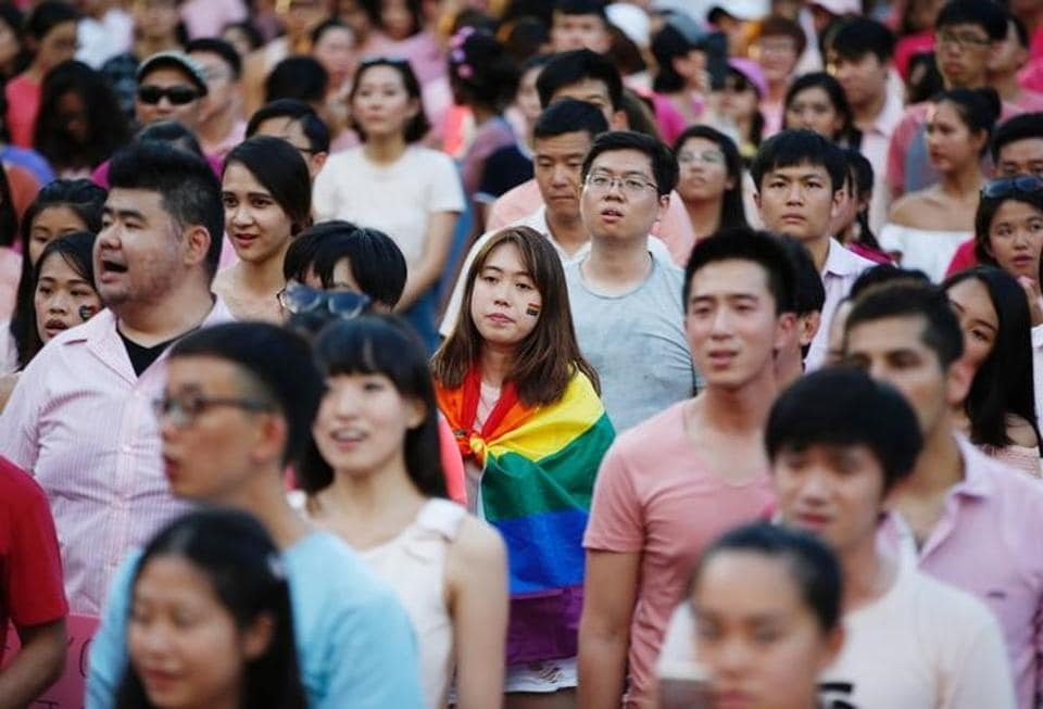 The Pink Dot rally, Singapore's annual gay pride rally, on Saturday.