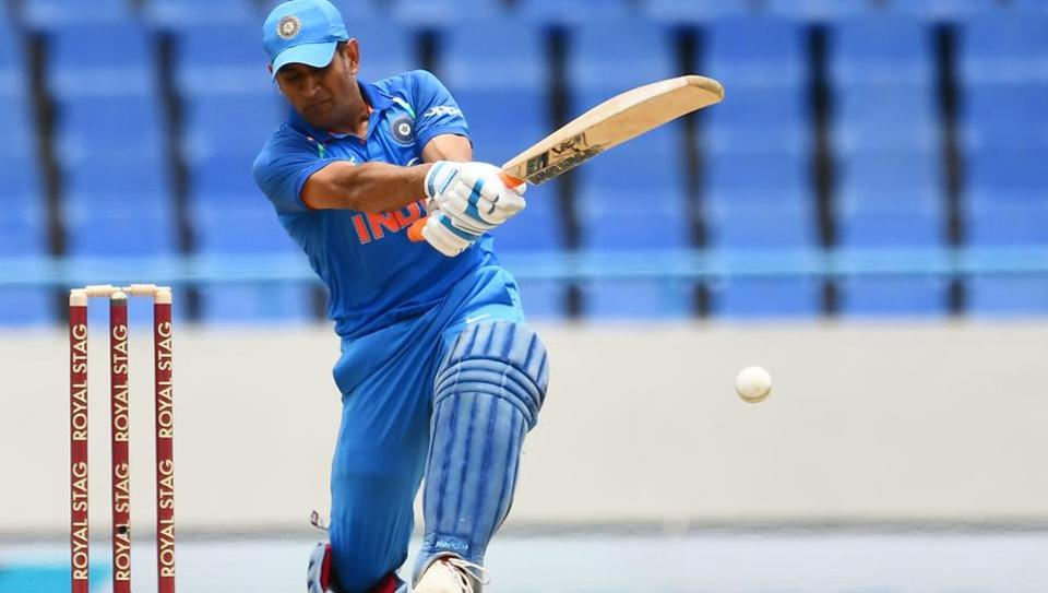 MS Dhoni's 79-ball 78* helped India beat West Indies by 93 runs in Antigua to take 2-0 lead in five ODI away series. (AFP)