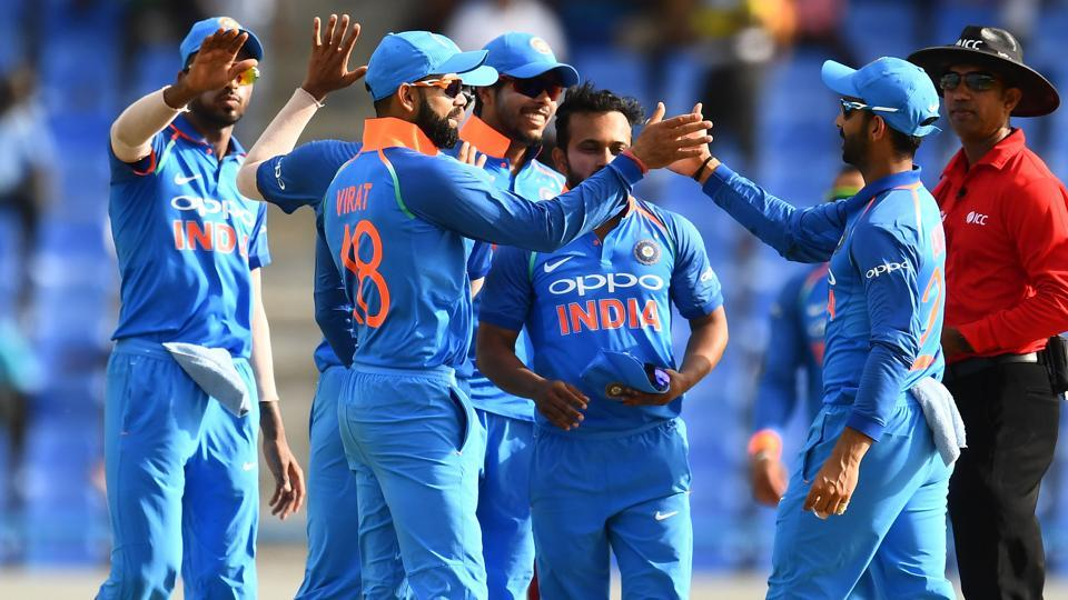 India finally dismissed  West Indies for 158 runs to win by 93 runs. The fourth ODI is on Sunday. (AFP)
