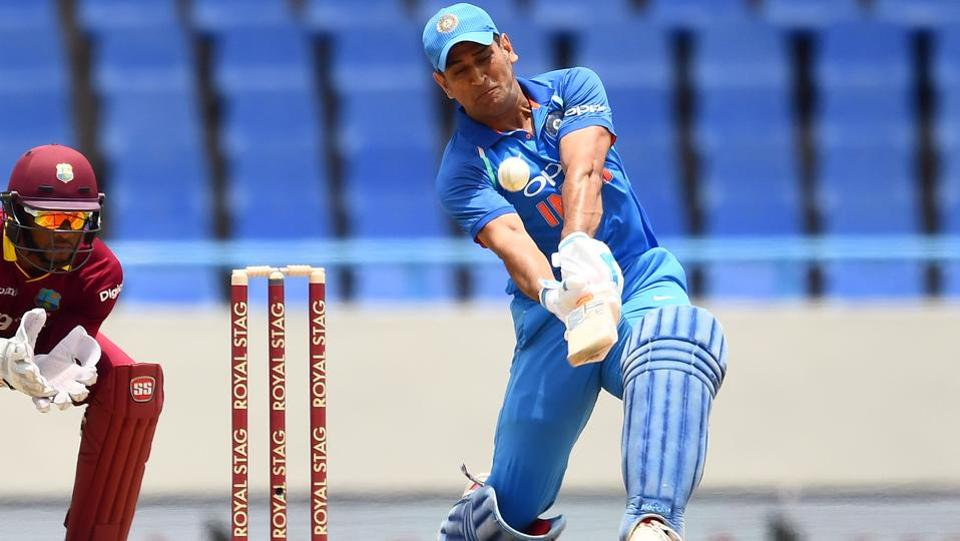 Dhoni's innings included two sixes and four fours and was declared Man of the Match. (AFP)