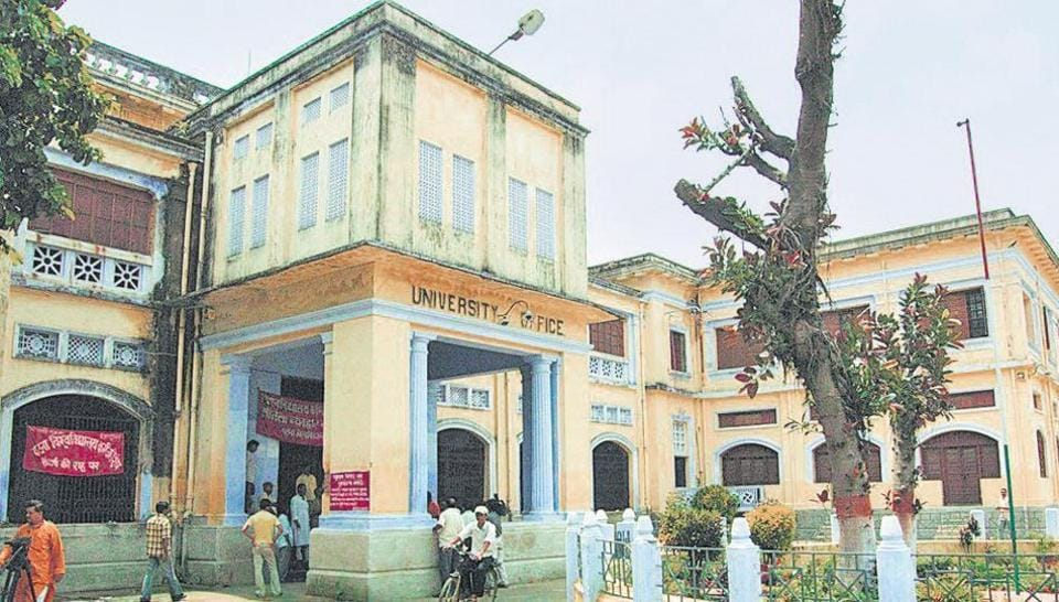 The Patna university office in the state capital.