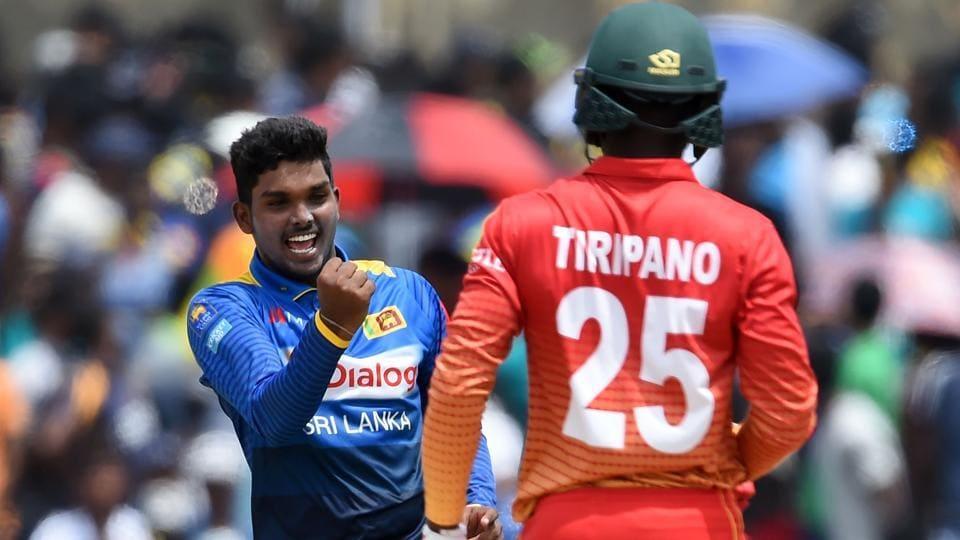 Sri Lanka vs Zimbabwe,Wanidu Hasaranga,Lakshan Sandakan