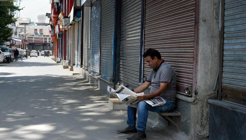 Restrictions remained in force in parts of Srinagar for the third consecutive day onSunday in view of a strike called by separatists to protest the killing of two civilians during an anti-militancy operation.