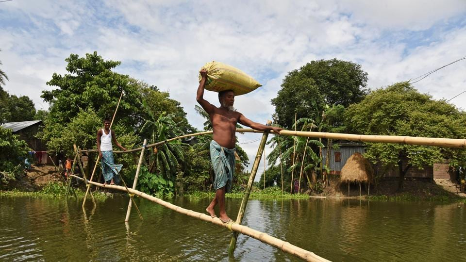 Over 250000 people affected by floods in northeastern India
