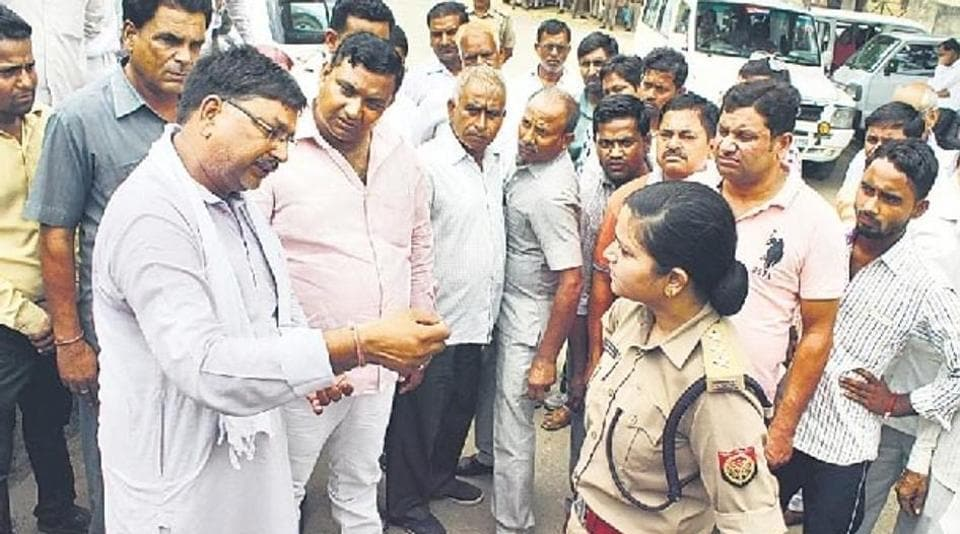 Shreshtha Thakur was transferred to Bahraich a week after the incident following a meeting of a delegation of the party's 11 MLAs and MP with chief minister Yogi Adityanath over the issue.