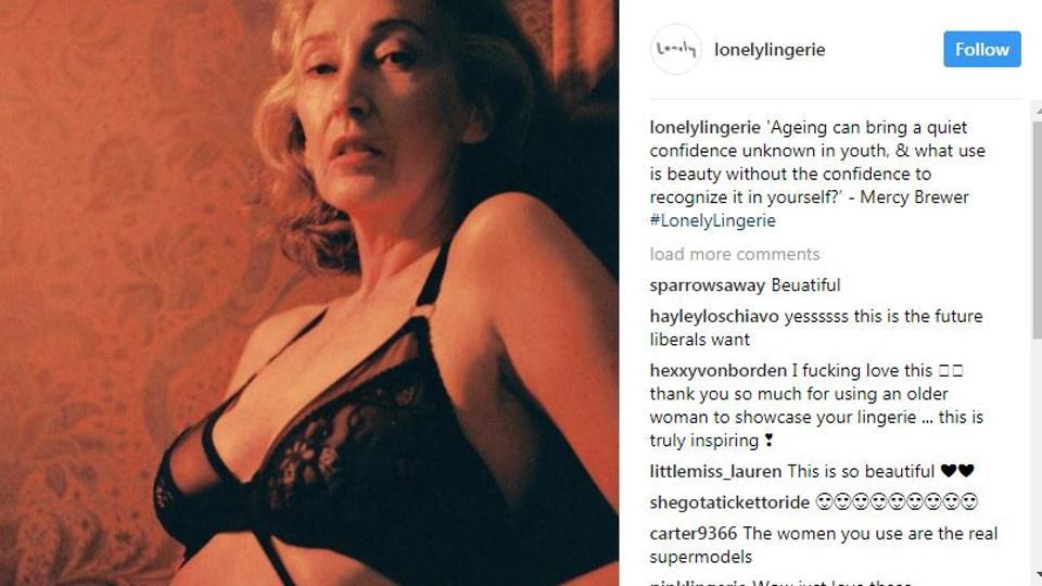 Beautiful mom-of-two is one of world's oldest lingerie models at 56