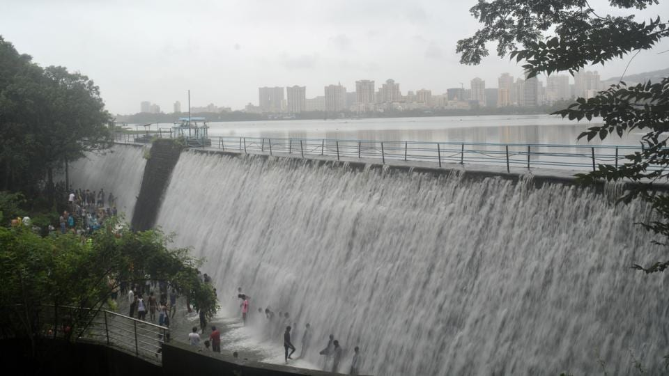 In a first this season, the Powai lake started overflowing last week.