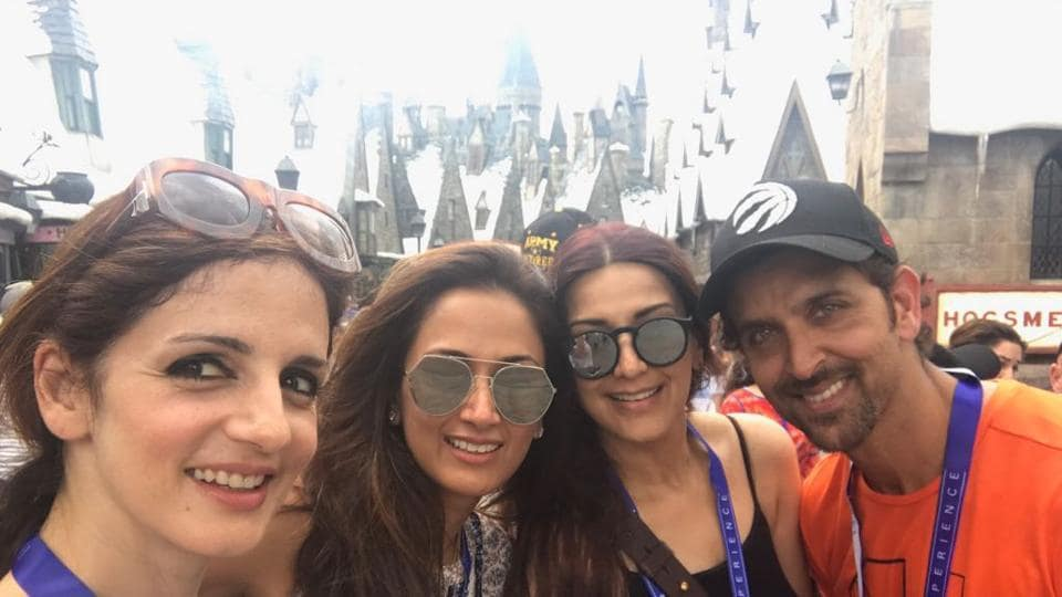 Hrithik Roshan and Sussane were spotted together in Orlando.