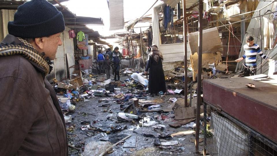 Councilman Taha Abdul-Ghani says the attack took place at dusk on Sunday as authorities were accommodating families that had fled from the Islamic State-held town of Qaim.