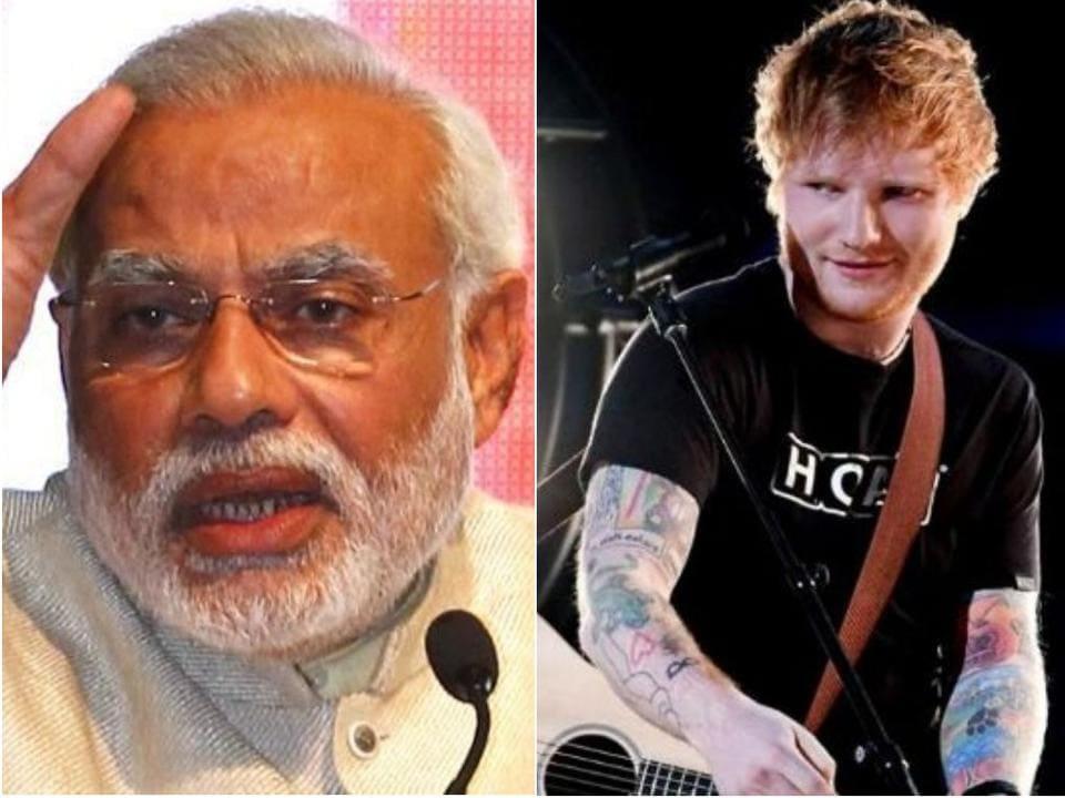 Narendra Modi,Ed Sheeran's,Tony Tarz