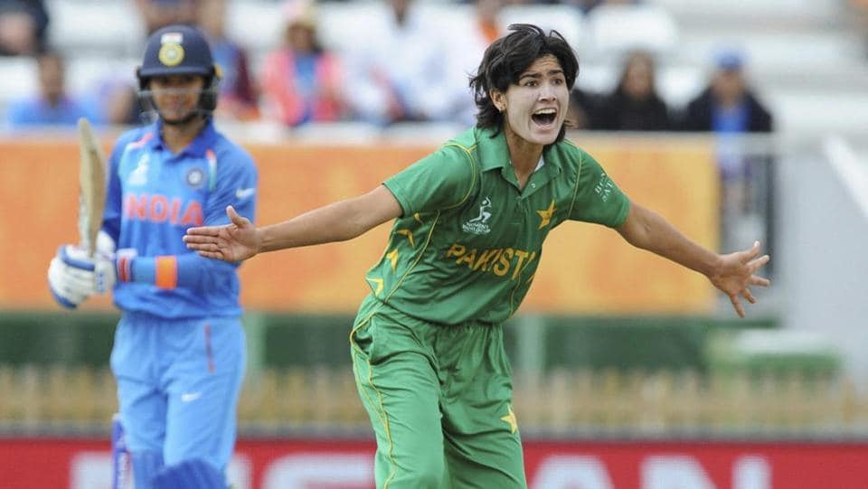 Pakistan's Diana Baig took the important wicket of Smriti Mandhana in the fourth over. (AP)