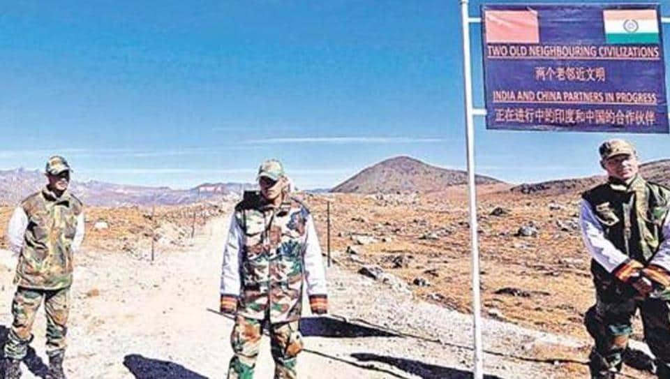 Army personnel keep vigil along the India-China border in Arunachal Pradesh.