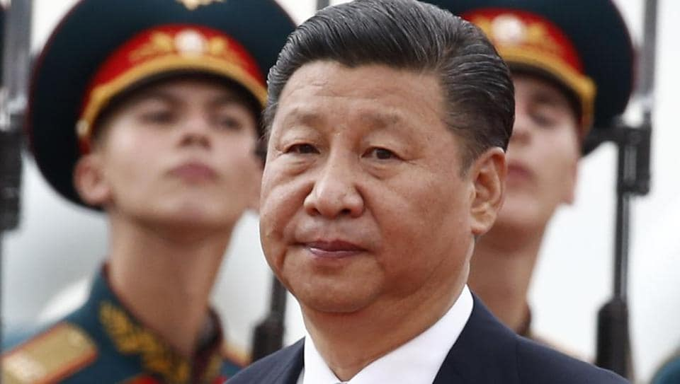 Chinese President Xi Jinping walks past Russian honour guards during a welcoming ceremony upon his arrival at Moscow's Vnukovo airport, Russia on July 3, 2017.