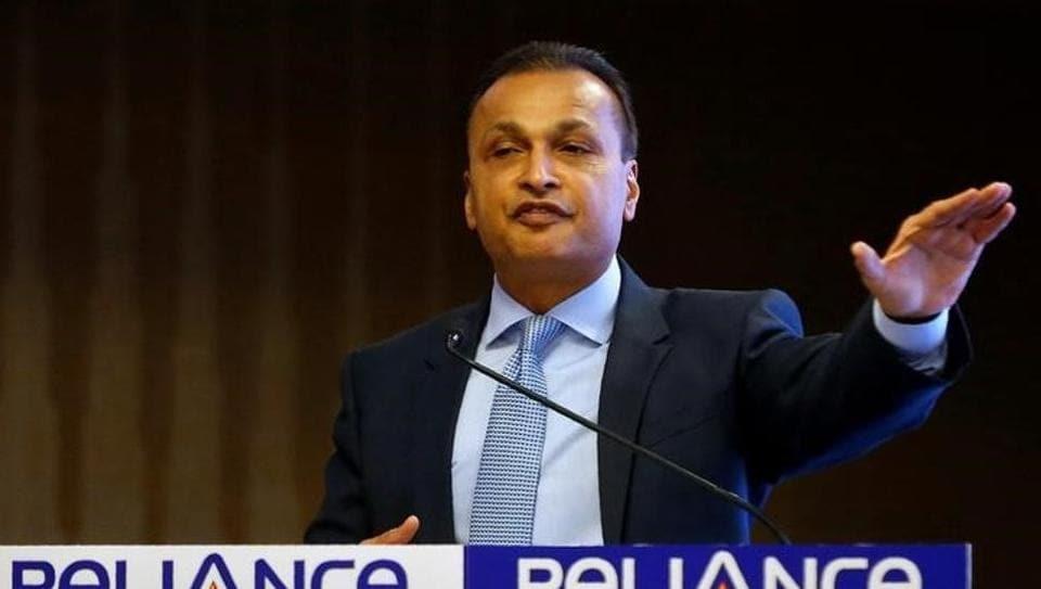 Anil Ambani, chairman of India's Reliance Communications, addresses a news conference in Mumbai.