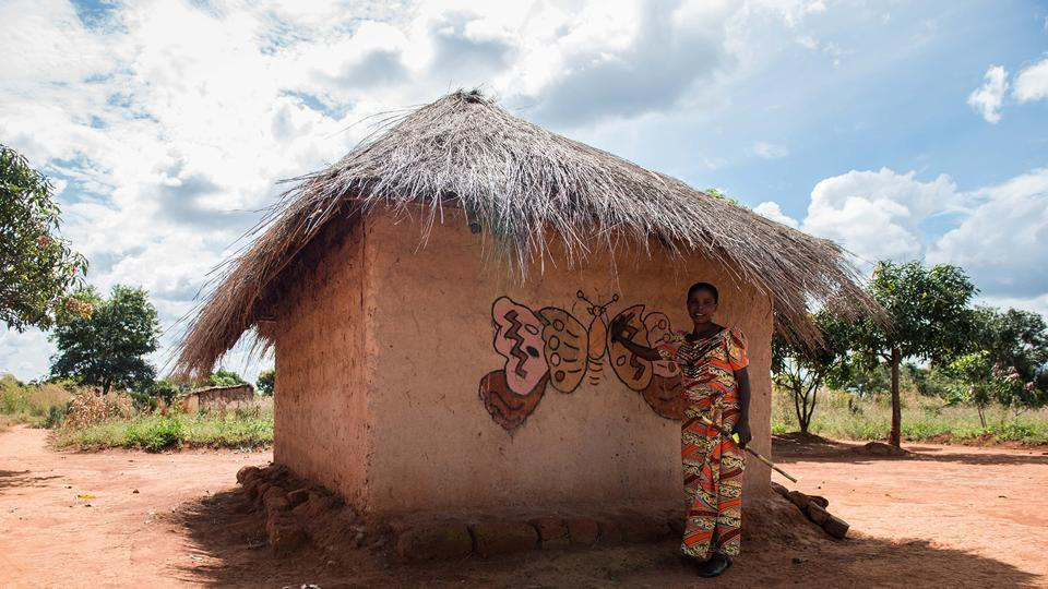 Makwatsha in DR Congo is also known as 'the village of the women painters'.