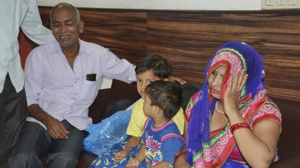 The victim was rushed to Yashoda Hospital in Ghaziabad where he died of injuries. The family claimed police arrived at the hospital at 4.15pm, hours after the incident.