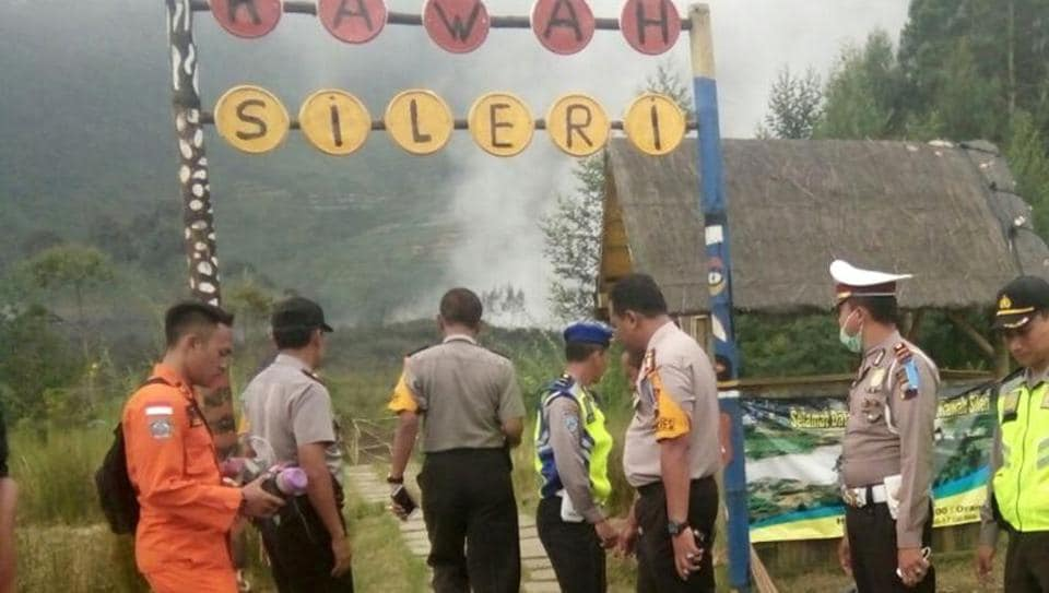 In Indonesia, the volcanic eruption affected the tourists