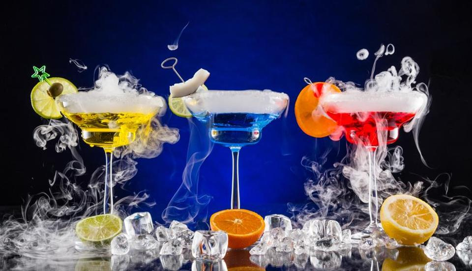 Delhi news,Liquid nitrogen,Smoky drinks