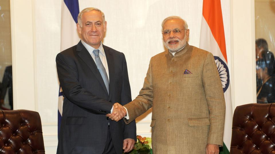 Prime Minister of Israel  Benjamin Netanyahu with Prime Minister Narendra Modi,  New York, 2014. Israeli companies have invested in India in renewable energy, telecom, water technologies, and R&D.