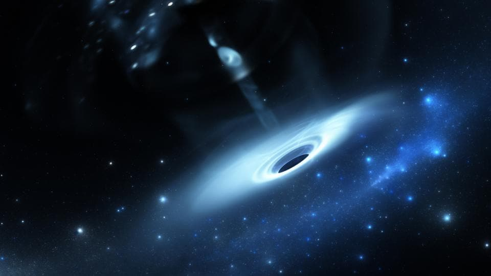 These extremely active form of galaxies harbour a super massive black hole 'central-engine' at the nucleus.