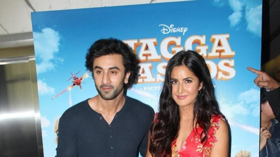 Ranbir Kapoor and Katrina Kaif during the trailer launch of Jagga Jasoos  in Mumbai.