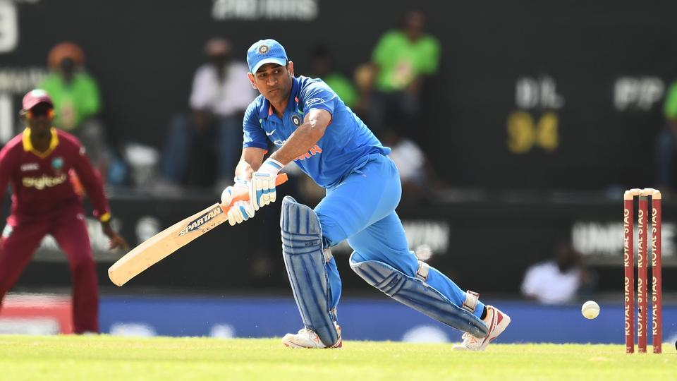 India's MS Dhoni (54 off 114 balls) played a fighting knock but it was not enough. (AFP)