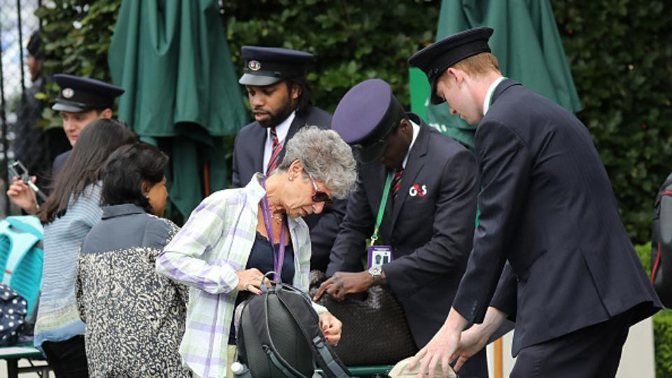Security at Wimbledon has been stepped up after the recent UK terror attacks involving vehicles hitting pedestrians.