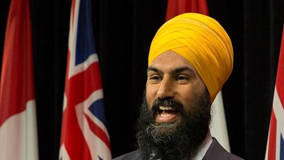 File photo of Canadian politician Jagmeet Singh, who is running for the leadership of the NDP, one of Canada's three major national political parties.