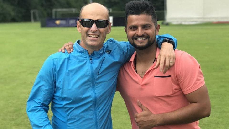Cricketer SureshRaina caught up with former India coach Gary Kirsten.