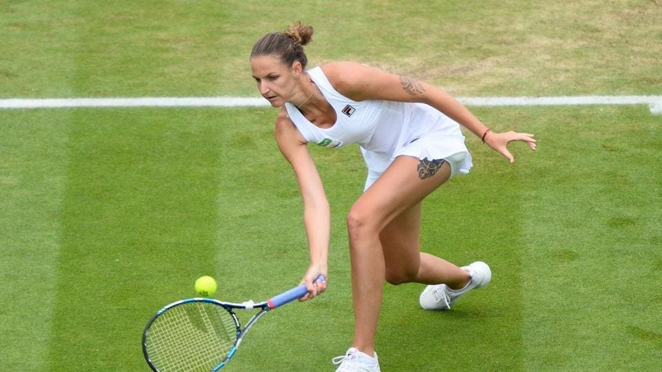 Karolina Pliskova beat Evgeniya Rodina 6-1, 6-4 to cruise into the second round of Wimbledon 2017.