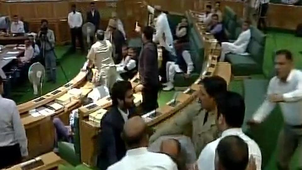 Opposition MLAs created a ruckus in the J-Kassembly.