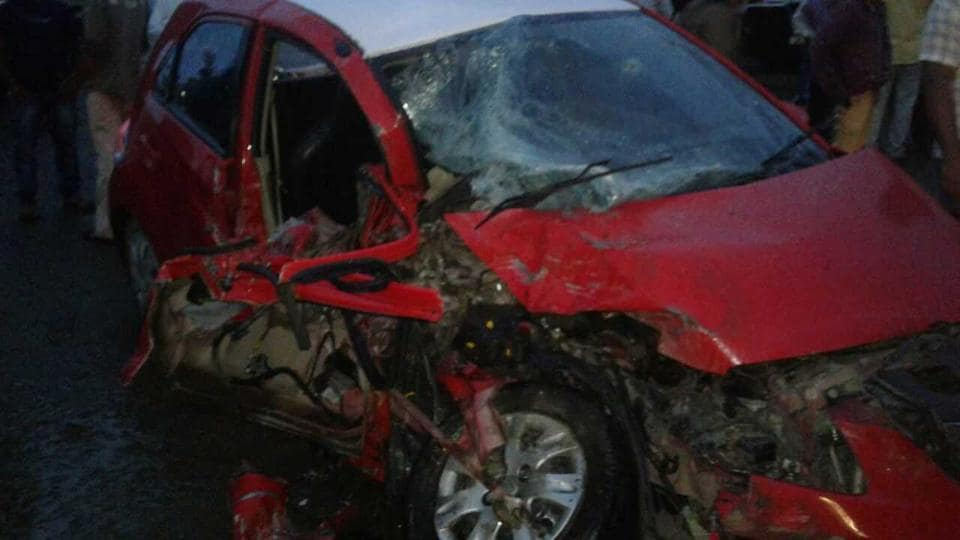 The steep inclination of the road at the accident spot has led to many accidents in the past, said a police official.