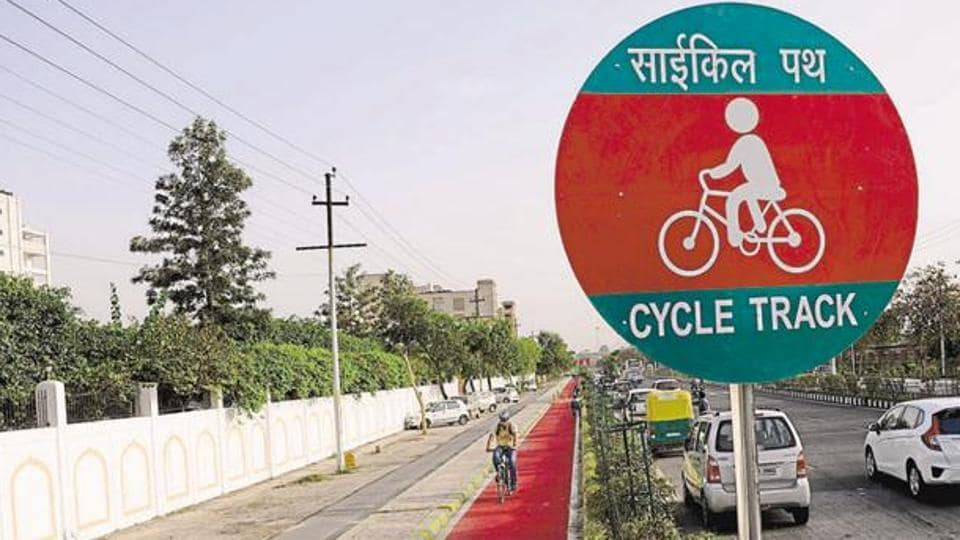 Cycle tracks of various distances were constructed in Lucknow, Noida and Bareilly by the SP government.