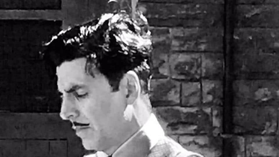 Akshay Kumar shared a black and white picture from the sets of Gold on Twitter.