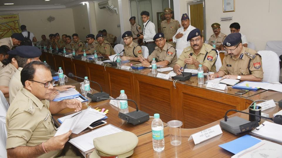 The meeting was held at Harsaon police lines in Ghaziabad where inspector general (Meerut range), joint commissioner (Delhi police) and other top police officials were present.