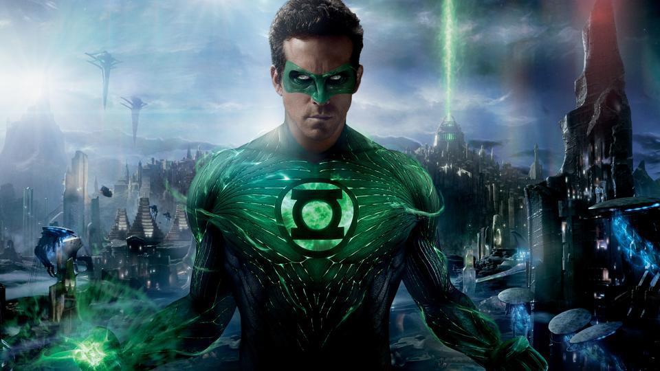 Ryan Reynolds as Green Lantern in Warner Bros. Pictures' action adventure Green Lantern.