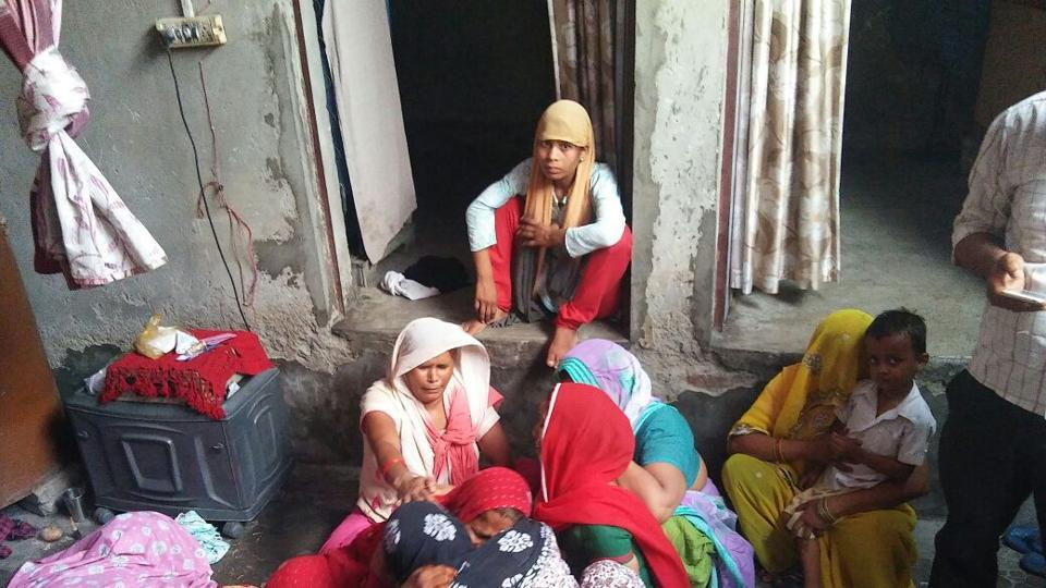 The family members of Lal Singh, 55, said he collapsed and started vomiting after they told him about the demolition notice from the UPSIDC.