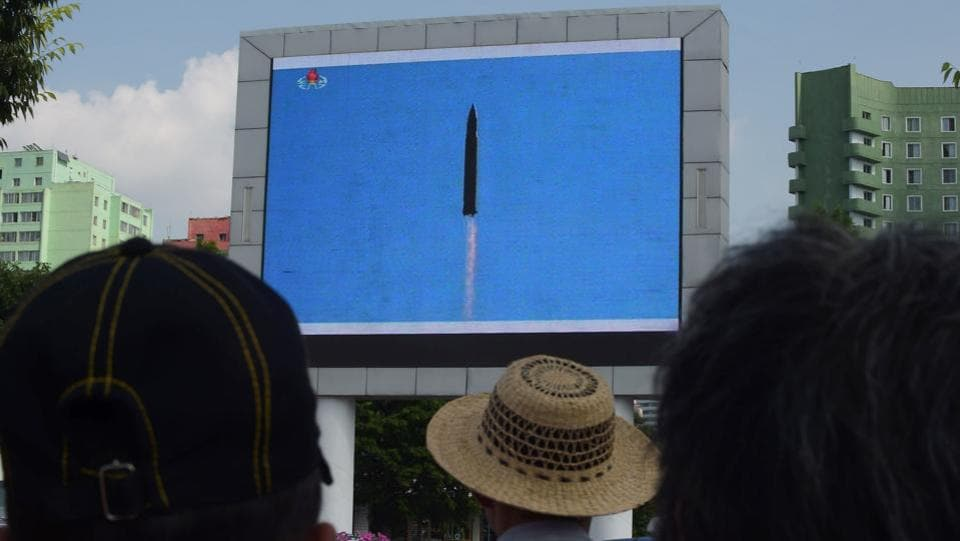Pyongyang has conducted missile-related activities at an unprecedented pace since the start of last year, but analysts had thought it was years away from having an ICBM. (AFP)