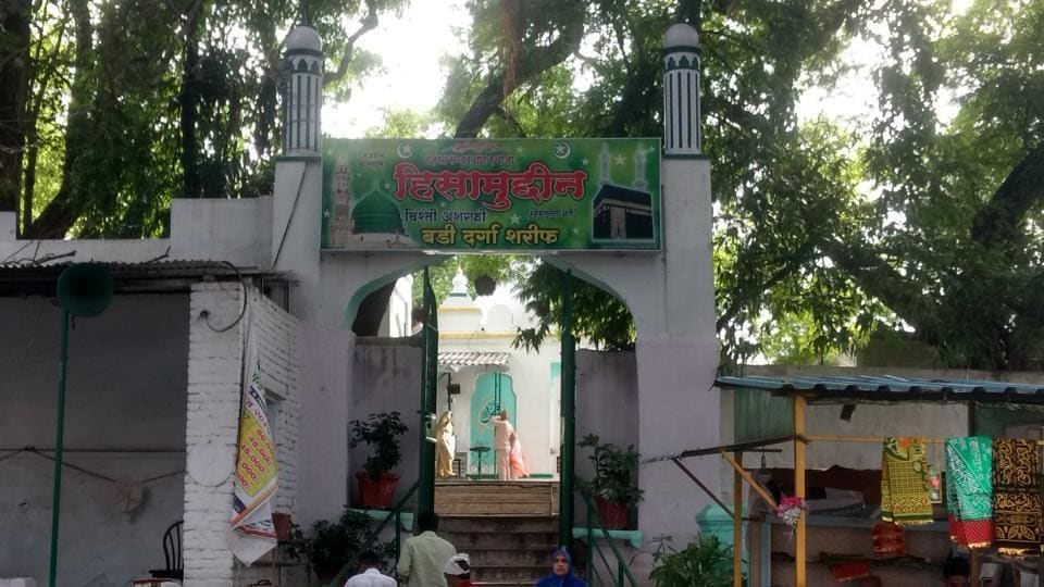 The Thorla dargah is surrounded by modern buildings in Kumbharwada.